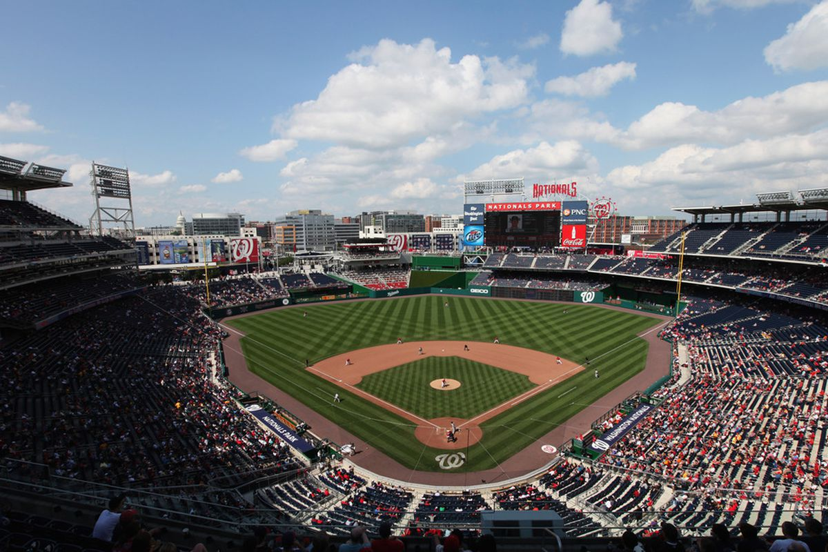 WASHINGTON, DC - MAY 15: General view of Nationals Park during the seventh inning between the Florida Marlins and Washington Nationals on May 15, 2011 in Washington, DC.  (Photo by Rob Carr/Getty Images)