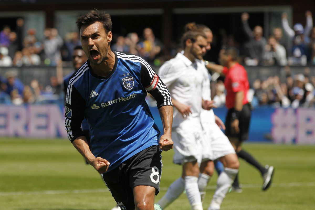 Chris Wondolowski is fired up at being the league leader in goals scored.