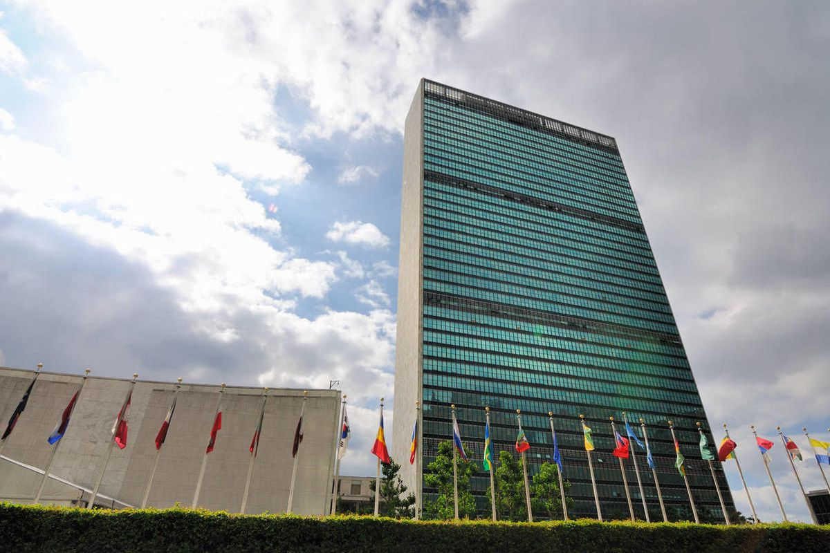 The United Nations building in Manhattan is the official headquarters of the UN since 1952. June 17, 2010 in New York, NY.