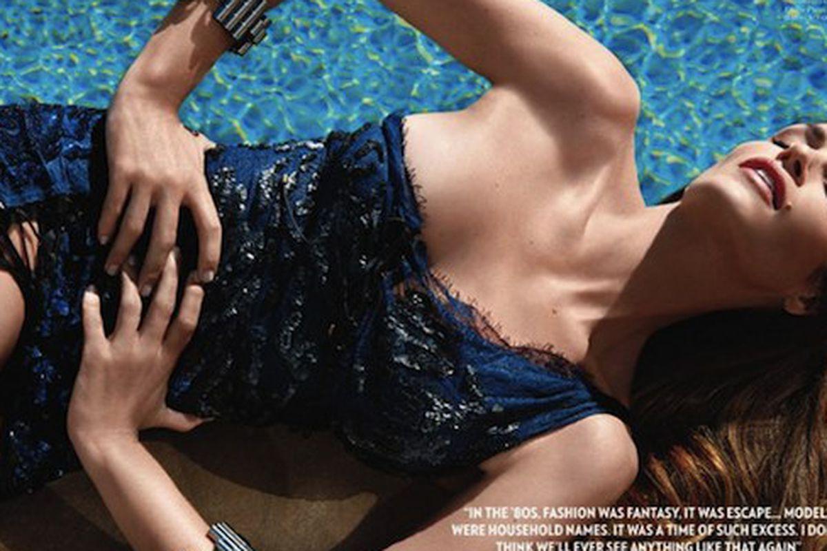 """Cindy Crawford in Vogue India, via <a href=""""http://revistaquem.globo.com/Revista/Quem/0,,EMI184158-8197,00.html"""">Quem</a>"""
