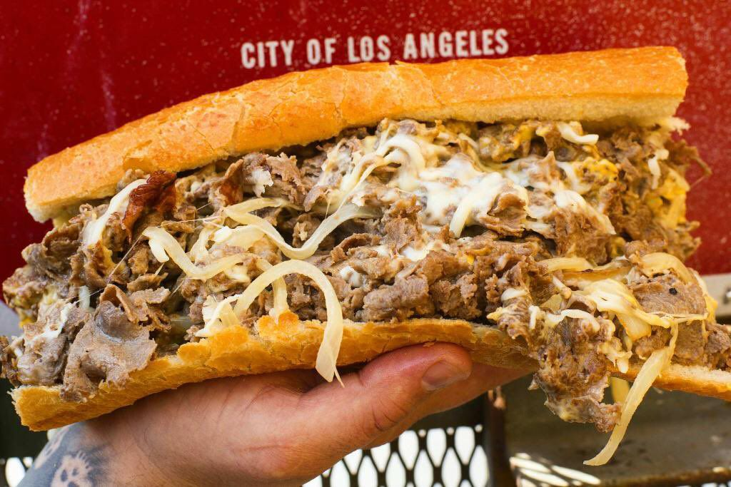The Phenomenal Philly Cheesesteak from Fat Sal's restaurant in Los Angeles.