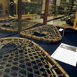 The artifacts on display in Pioneer Memorial Museum represent pioneers of all stripes. The snowshoes pictured here belonged to trapper, explorer and guide Jim Bridger