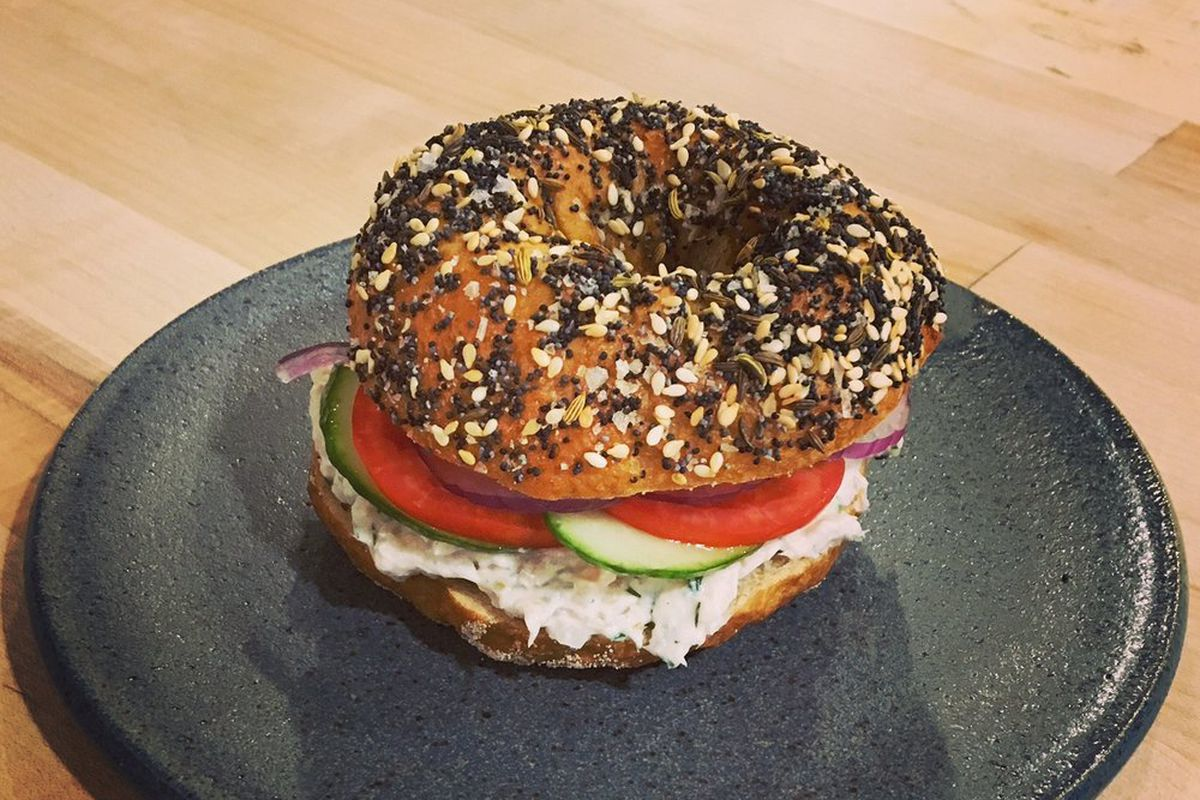 A bagel from Pitchfork Pretty