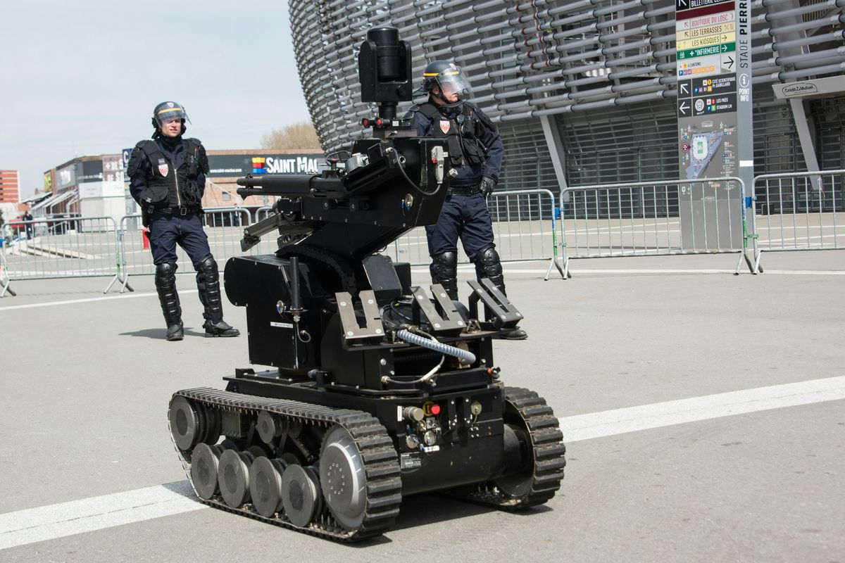 Robots created for military use are now commonplace in police departments around the world.