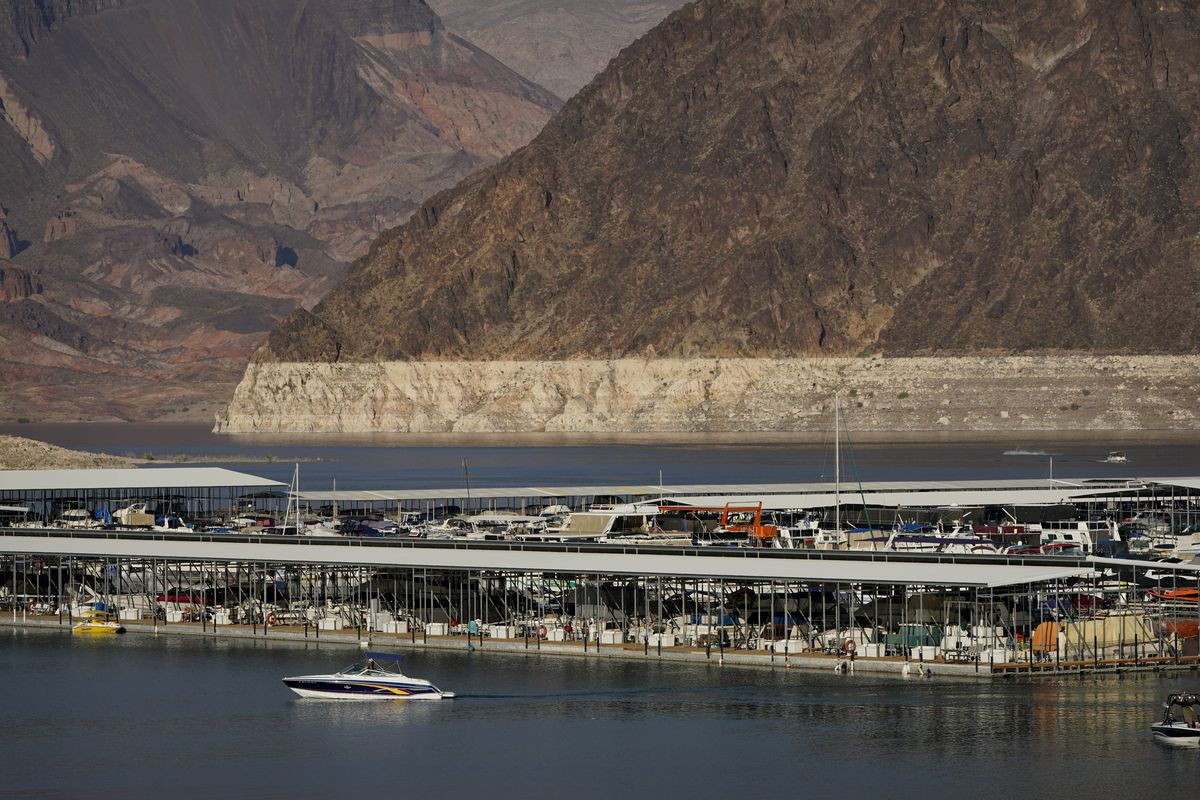 Lake Mead -- the reservoir on the drought-stricken Colorado River reservoir behind Hoover Dam -- is the primary water source for Las Vegas, a desert city considering a first-in-the-nation policy to limit water use by banning grass that nobody walks on.