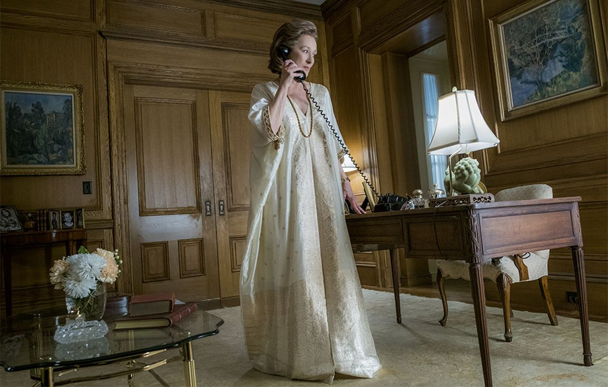 An Ode To Meryl Streep S Golden Caftan In The Post Racked