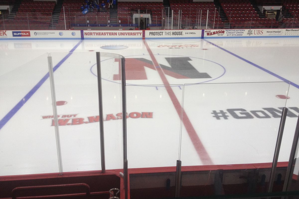 Northeastern sophomore Kevin Roy put on a show Friday night on the Matthews Arena ice.