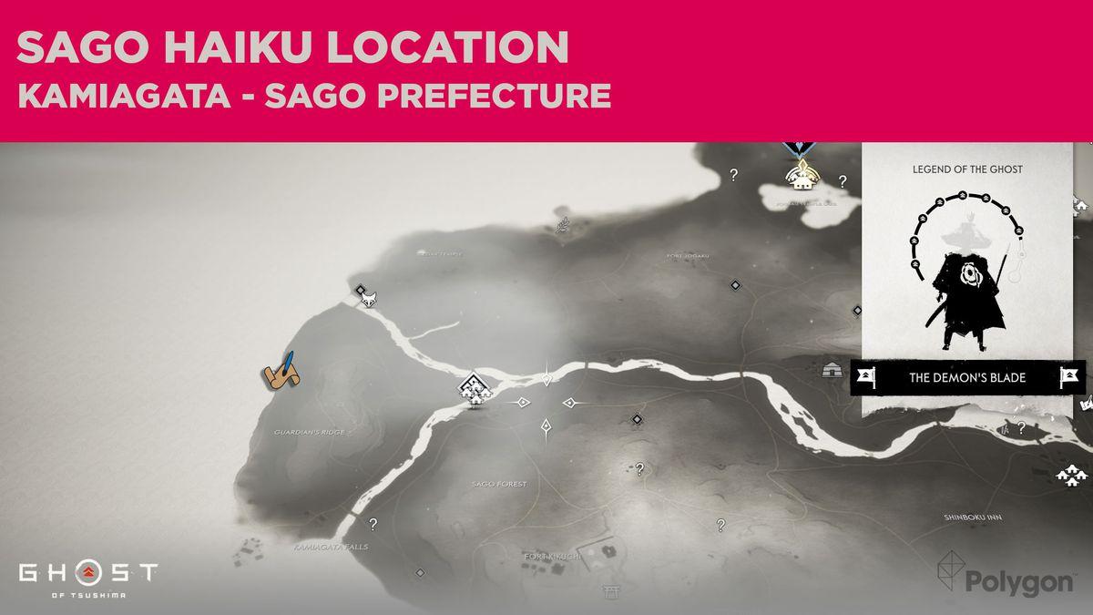 The Sago haiku location in Ghost of Tsushima
