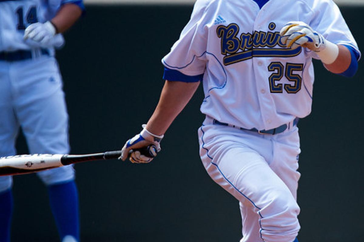 "Beau Amaral's six RBI and late clutch hitting brought UCLA back to win the game (Photo Credit: <a href=""http://www.scottwuphotography.com/Sports/UCLA-Sports/110403UCLABaseballvWA/16467722_7dHpi#1239145029_k6GBf"" target=""new"">Scott Wu</a>)"