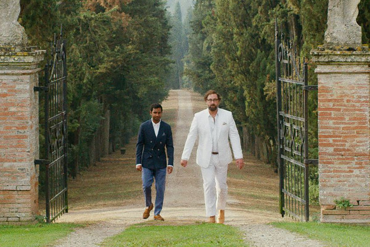 Arnold and Dev from Master of None at wedding