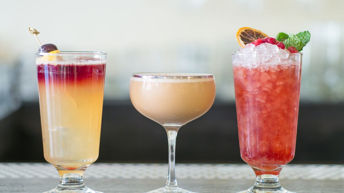 Naren Young's assorted port cocktails at Dante in New York.