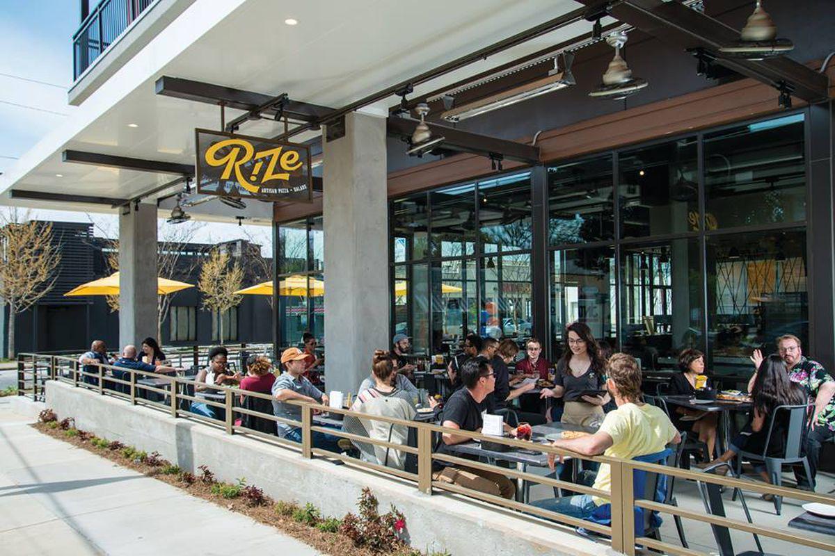 Exterior shot of Rize Artisan Pizza