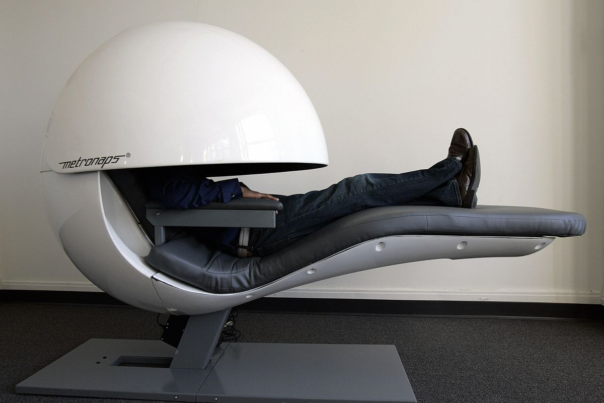 Futuristic nap pods get upgraded with sleepy sounds but for Google sleep pod price