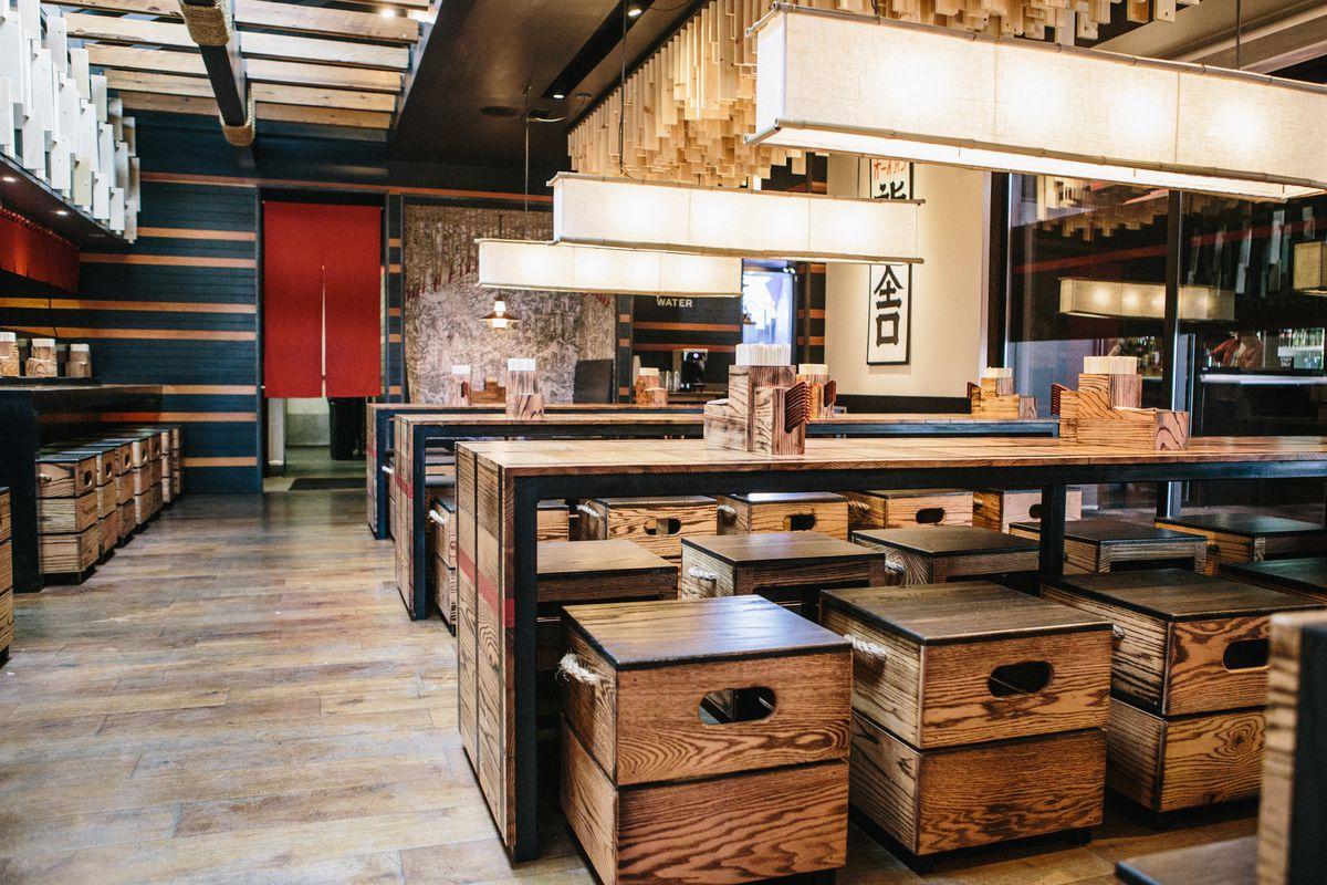 Ramen Tatsu-ya's dining room on East 6th Street