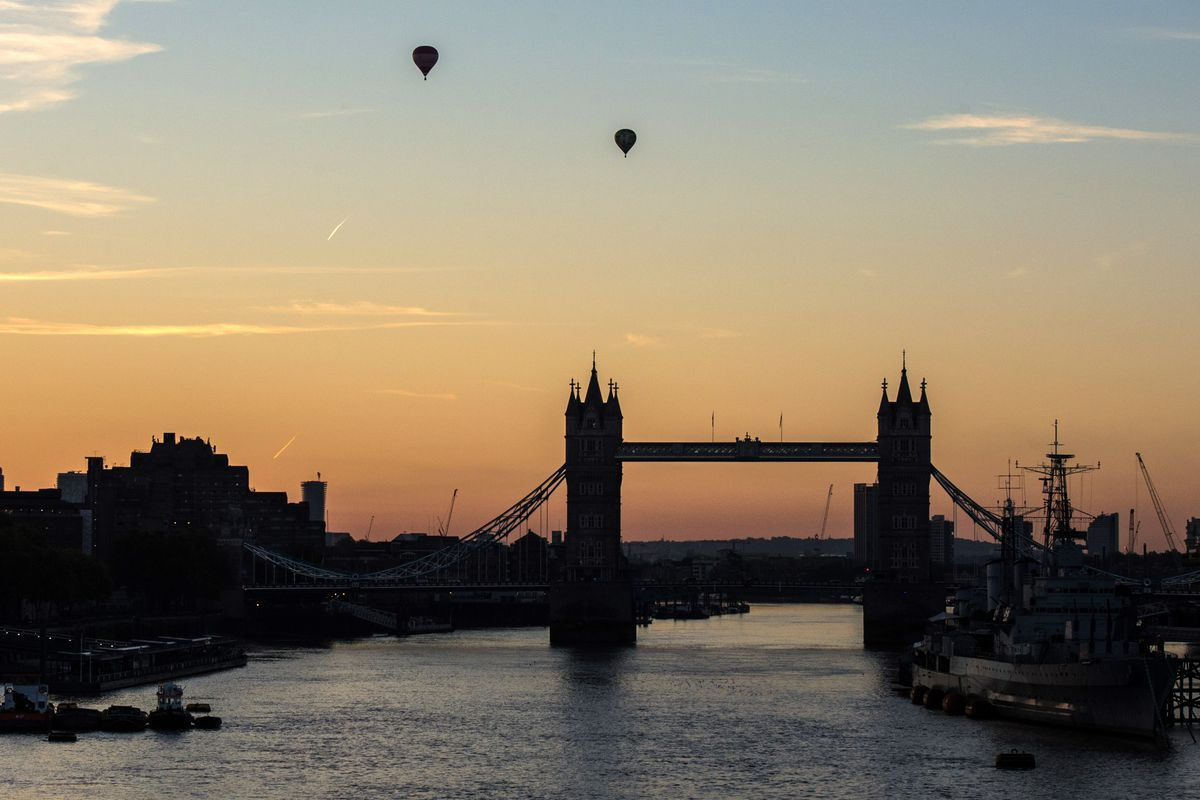 Early Morning Views Over The River Thames
