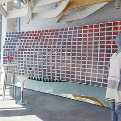 The Pixel Wall's cubed displays are made of digital screens that can be customized however the retailer pleases.