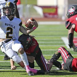 Roy plays Weber in a high school football game at Weber High School in Pleasant View on Friday, Oct. 16, 2020. Weber won 35-8.