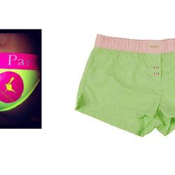 """The Expected: Jack Wills Party Pants – The Update: <b>Paxton 1345</b> Vineyard Short, <a href=""""http://shop.paxton1345.com/collections/womens-eastern-seaboard-collection/products/vineyard-green-plaid-womens-boxers"""">$39.50</a>"""