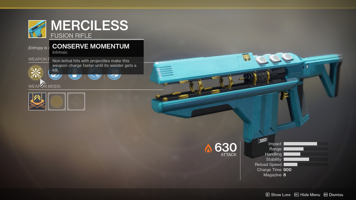 Merciless Exotic Destiny 2