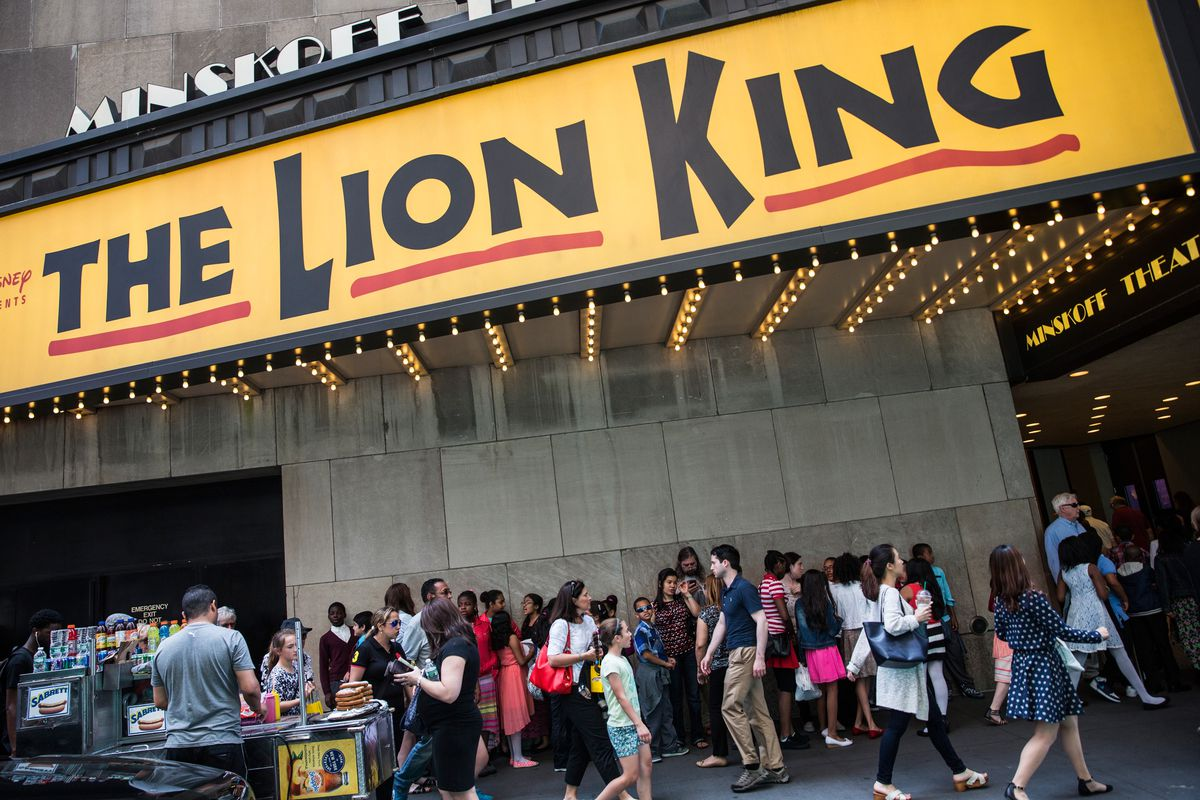 Lion King marquee on broadway