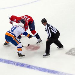 Tavares and Backstrom Faceoff