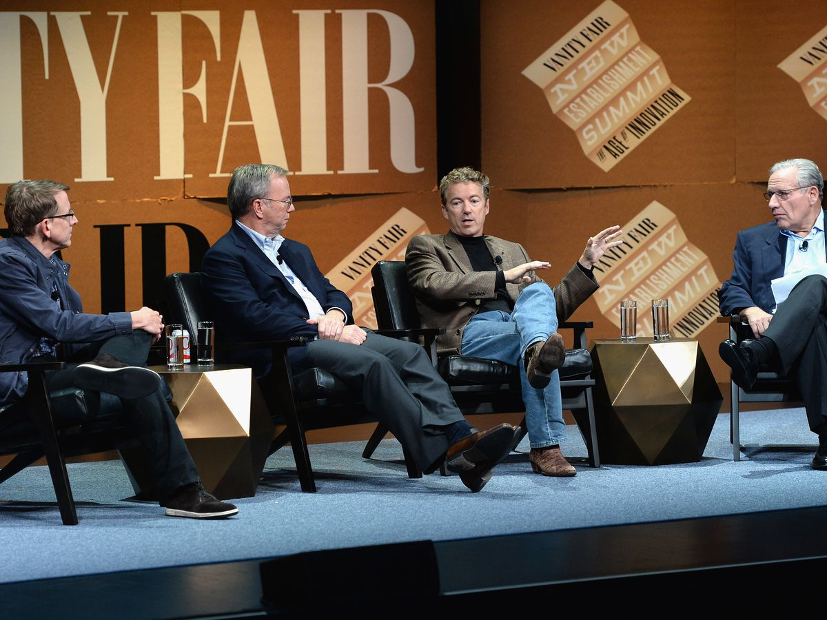 Eric Schmidt, Rand Paul, John Doerr and Bob Woodward ... Agreeing on Things