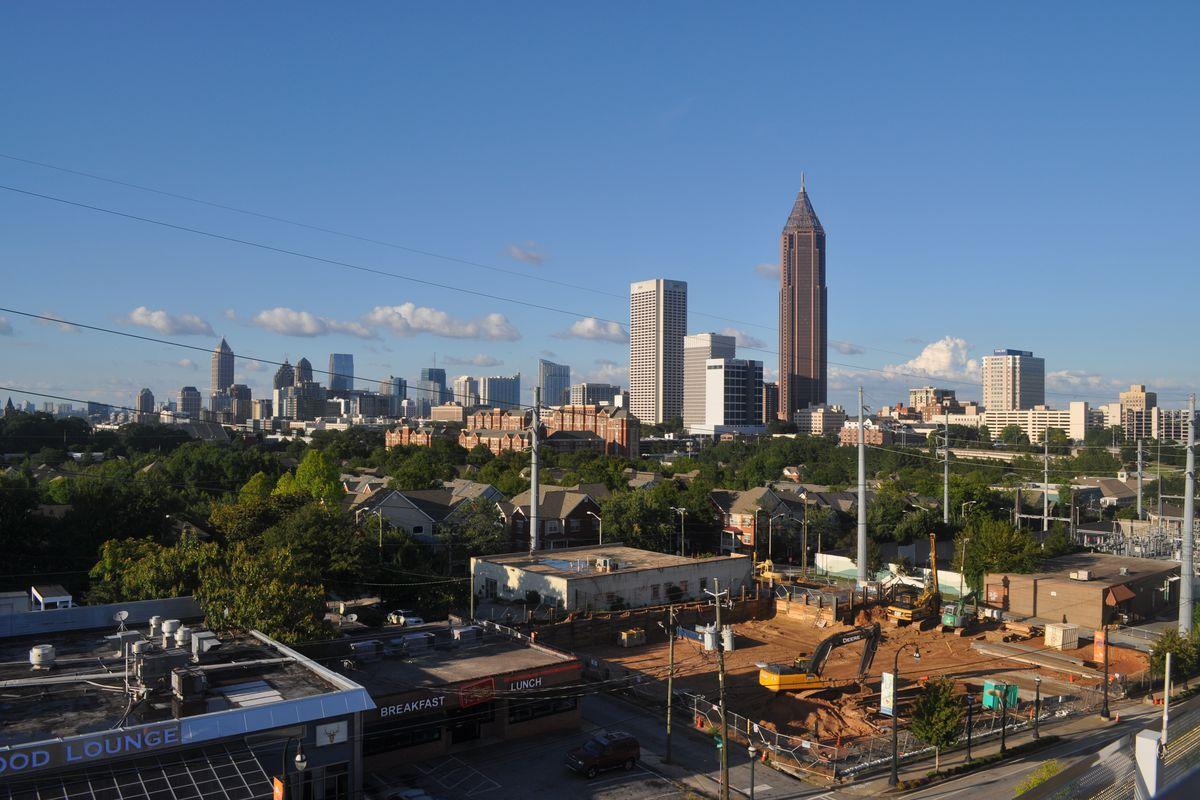The Midtown skyline from downtown.