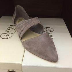 Grey suede Joan flat, $40 (was $325)