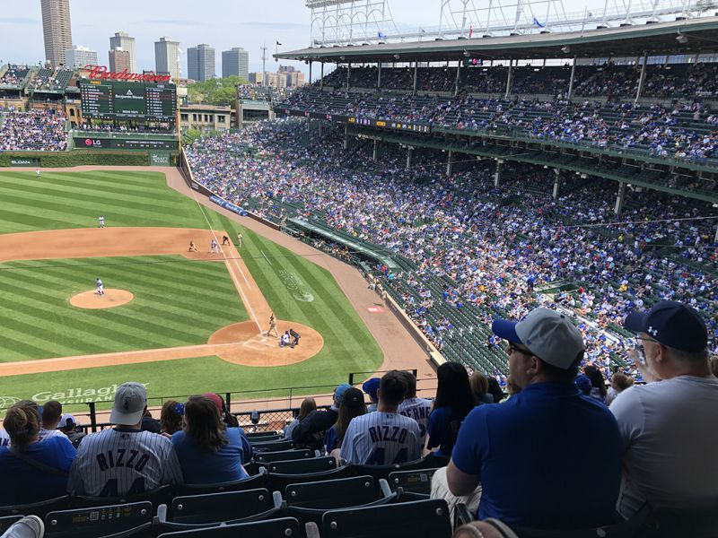 Even at a social-distanced half capacity, Wrigley Field looked well-populated Wednesday. A Bud Light is $10.