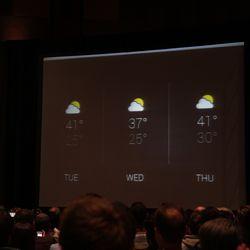 Weather forecast on Google Glass