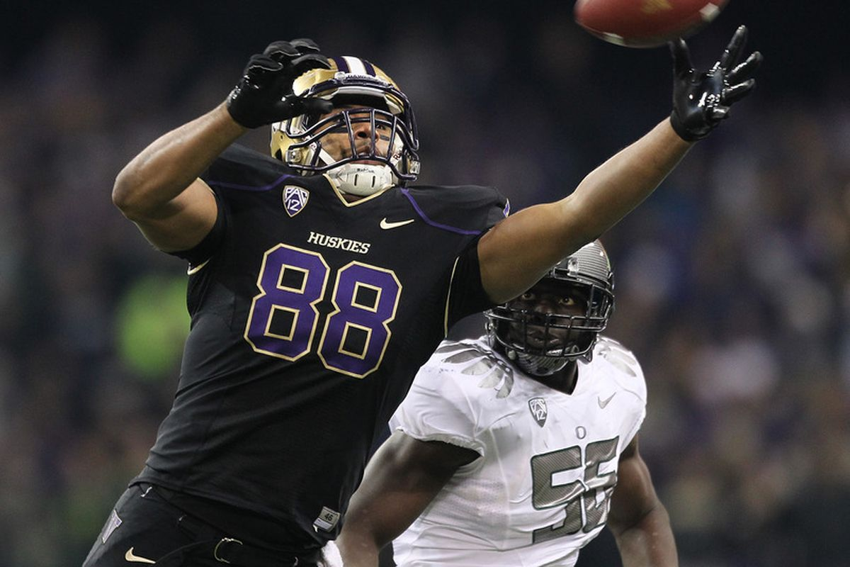 Austin Seferian-Jenkins could be one of the top targets for the Huskies in the Apple Cup on Saturday against WSU.