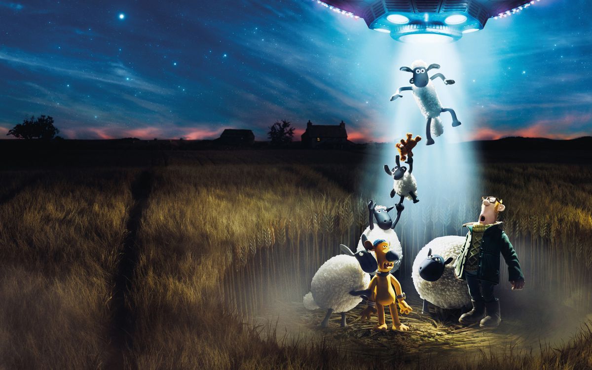 Farmageddon: A Shaun the Sheep Movie - sheep being abducted by a UFO
