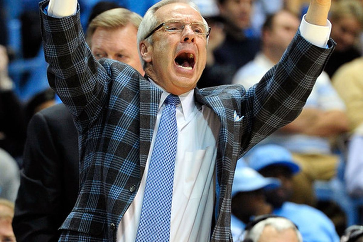 CHAPEL HILL, NC - FEBRUARY 11:  Roy looks angry