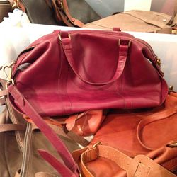 Leather bag, $130