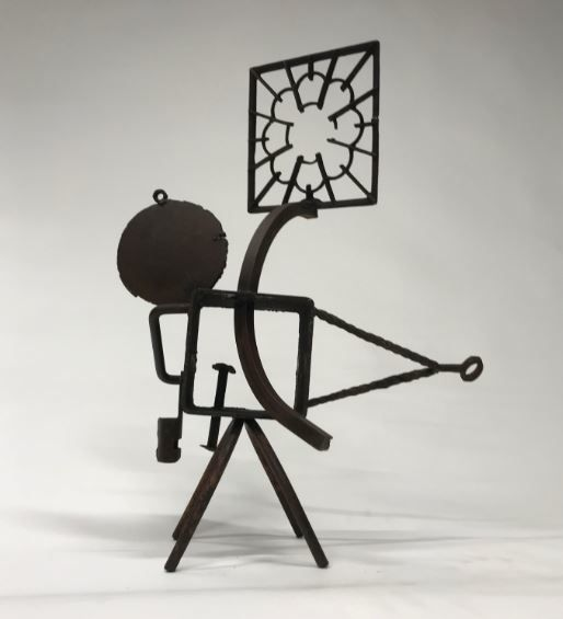 """Dingbat"" is an ode to storytelling and outlandish stories the artist recalls from his childhood in this steel 11-foot sculpture."