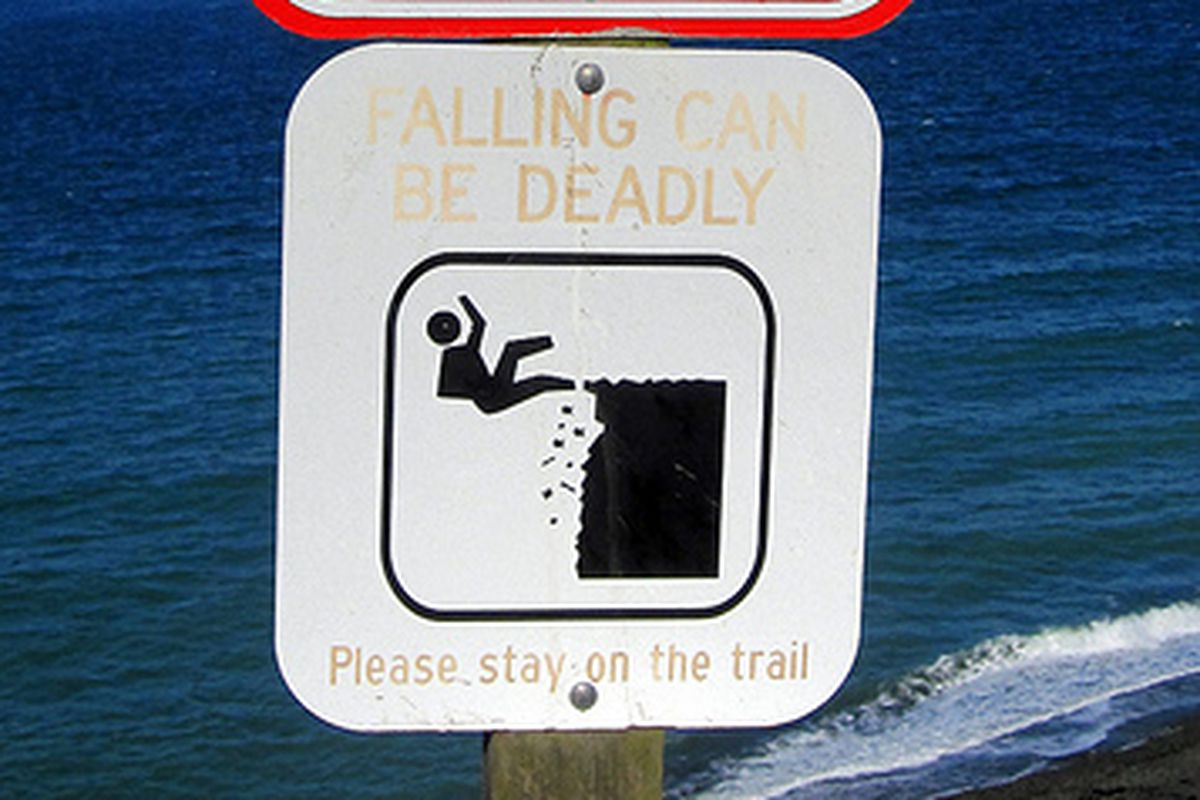 Let's not fall off the cliff here.