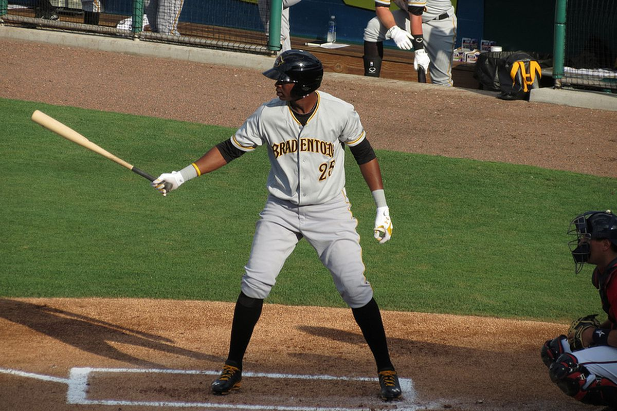 Pirates outfielder Gregory Polanco who is playing in the Dominican Winter League.