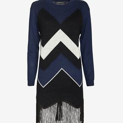 """Timo Weiland chevron fringe sweater dress, <a href=""""http://www.intermixonline.com/product/timo+weiland+chevron+fringe+sweater+dress.do?sortby=ourPicks&CurrentCat=104826"""">$368</a> at Intermix"""