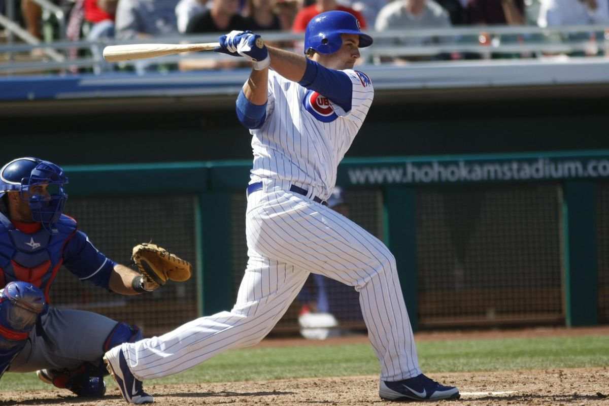 Anthony Rizzo has four singles already this season. Where has the power gone? Credit: Rick Scuteri-US PRESSWIRE