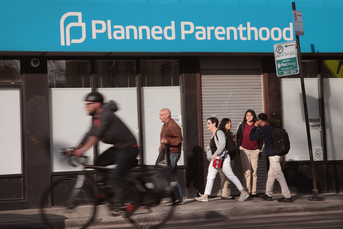 A Planned Parenthood clinic in Chicago, Illinois, on May 18, 2018.