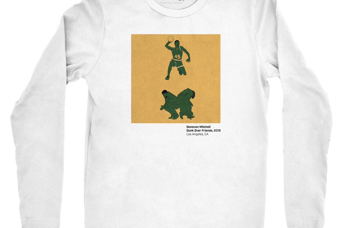 sports shoes 8bc12 0dad1 Donovan Mitchell: Dunk Over Friends T-Shirt Now Available ...