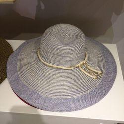 Genie straw hat, $45