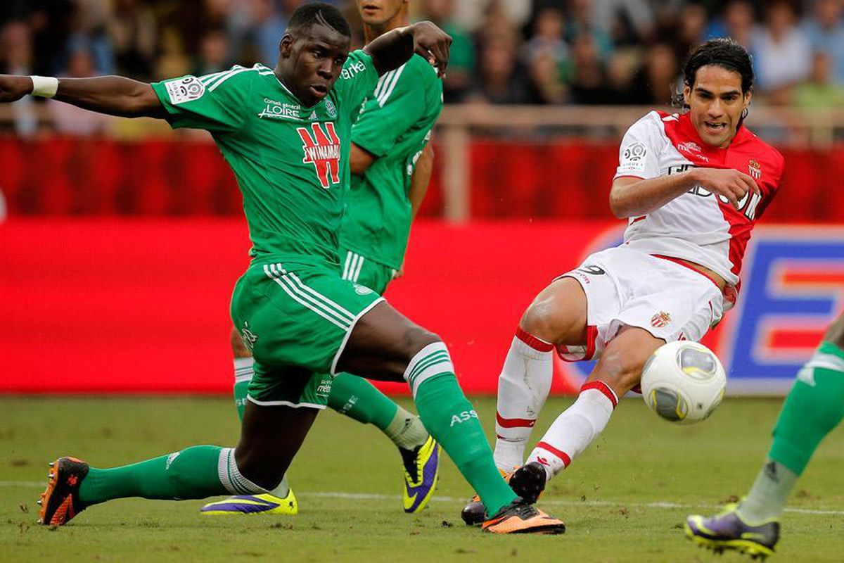 Kurt Zouma in action for Saint-Etienne
