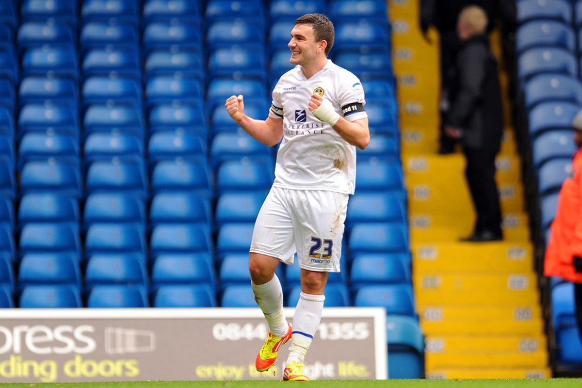 Robert Snodgrass, who scored 13 goals for the Whites this campaign is set to have a serious think over his Elland Road future. (Photo by Clint Hughes/Getty Images)