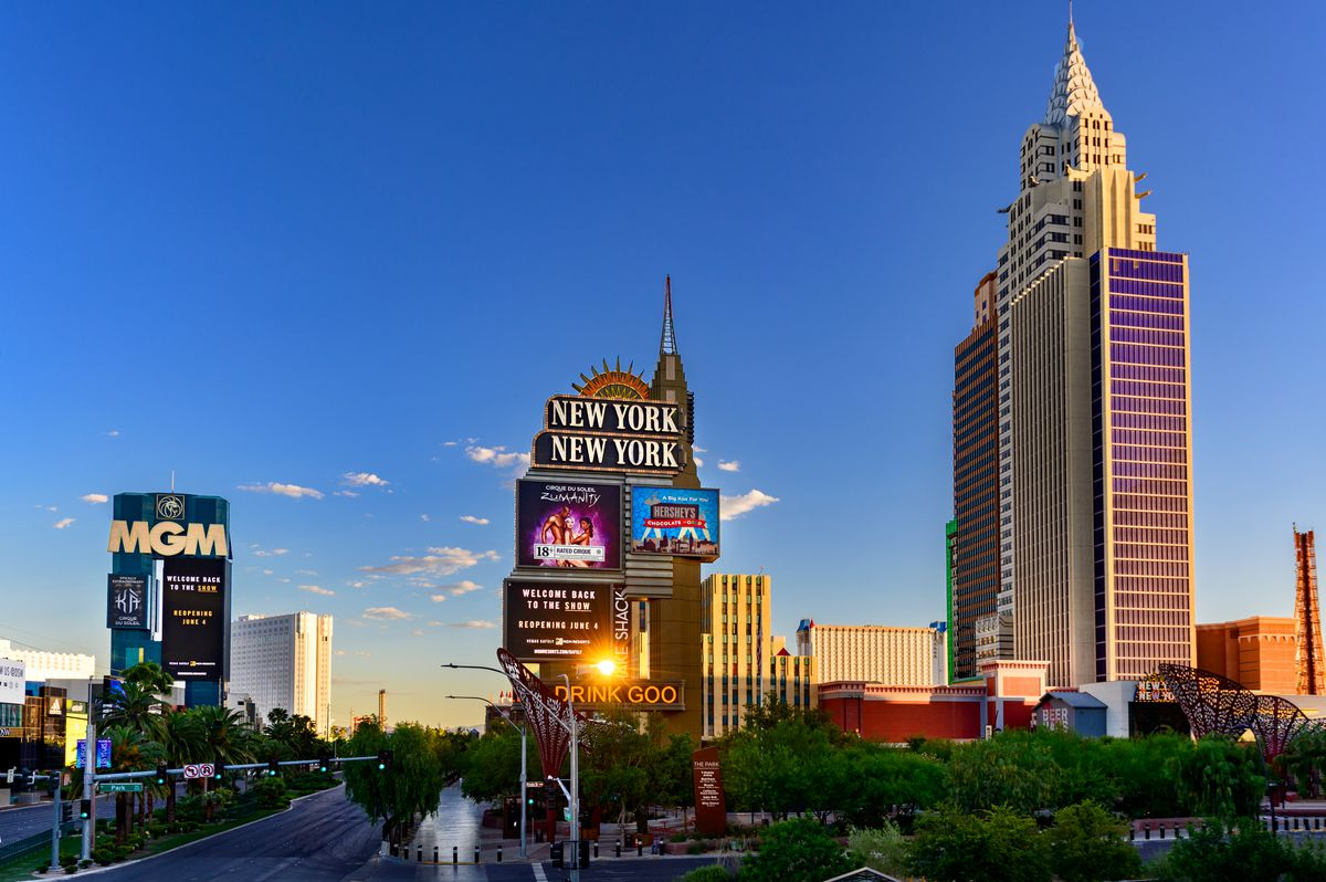 The MGM Grand and New York-New York