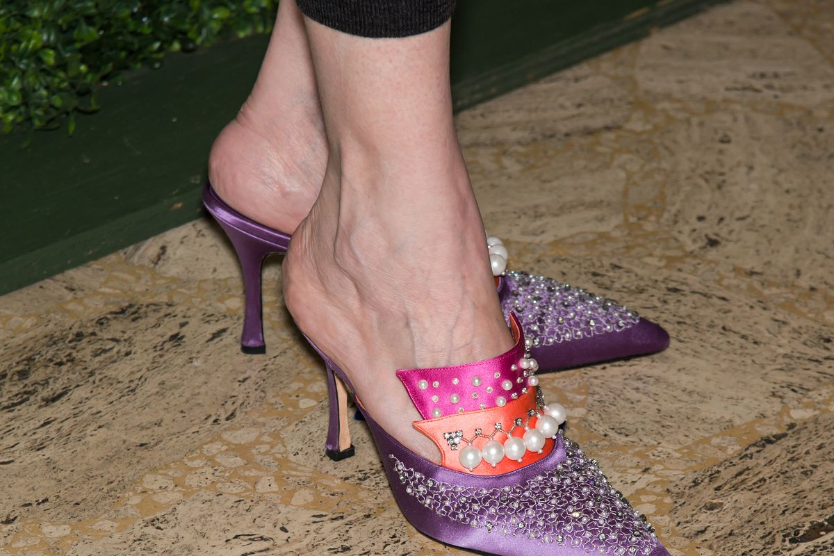 Manolo Blahnik shoes spotted at an event honoring the designer in September.