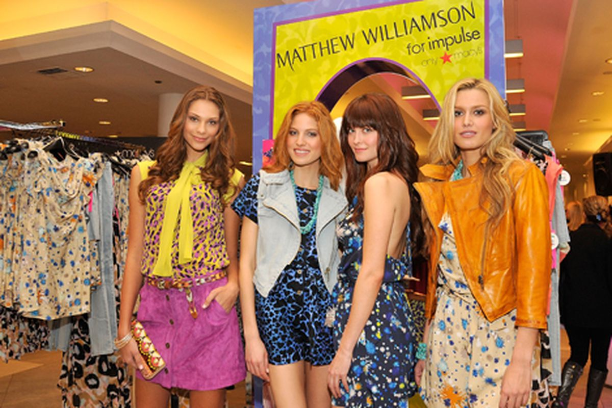 Models at the M. Willy launch on April 13. Via Getty Images.