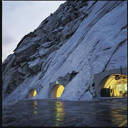 The entrance to the Granite Mountain Records Vault is located in Little Cottonwood Canyon. The Family History Conference at the Salt Palace Convention Center presented a virtual video tour Wednesday morning of the vault, the seldom-seen site of records preservation and storage for the LDS Church.