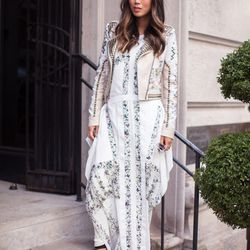 """Aimee of <a href=""""http://www.songofstyle.com""""target=""""_blank"""">Song of Style</a> is wearing a BCBGMAXAZRIA <a href=""""http://www.bcbg.com/Runway-Andela-Dress/PMX60A22-114,default,pd.html?dwvar_PMX60A22-114_color=114&cgid=runway-view-all&cm_mmc=LinkShare-_-AFF"""