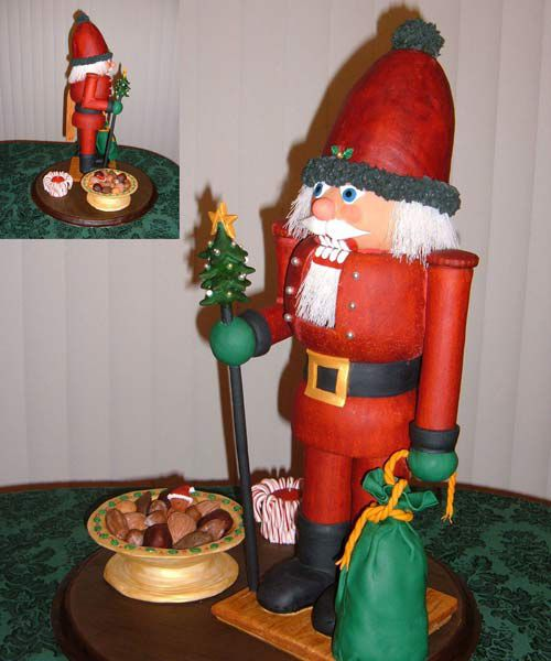 Gingerbread nutcracker doll.